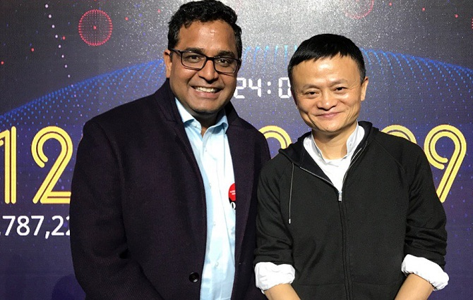 Paytm CEO and Jack Ma of Alibaba