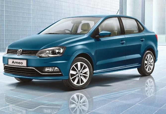 Volkswagen unveils compact sedan Ameo