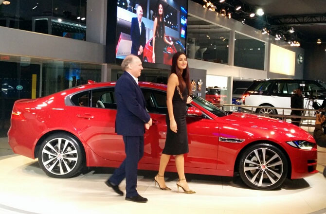 Katrina Kaif is the brand ambassador of the stunning Jaguar XE