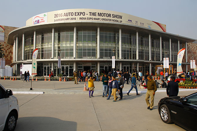 cars at the auto Expo 2016