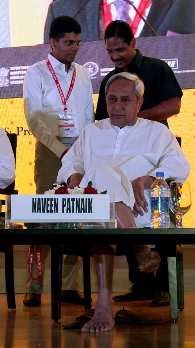 Odisha chief minister Naveen Patnaik at the Make In India Week