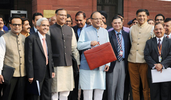 Arun Jaitley and his team