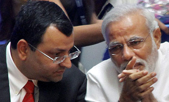 Cyrus Mistry with Prime Minister Narendra Modi.