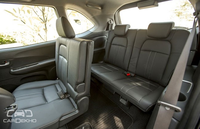 On The Insides Biggest USP Of Honda BR V Comes To Fore Unlike Any Its Rivals It Features An Extra Row Seats Whats More Top Spec