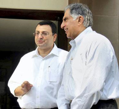 Ratan Tata and Cyrus Mistry in happier times