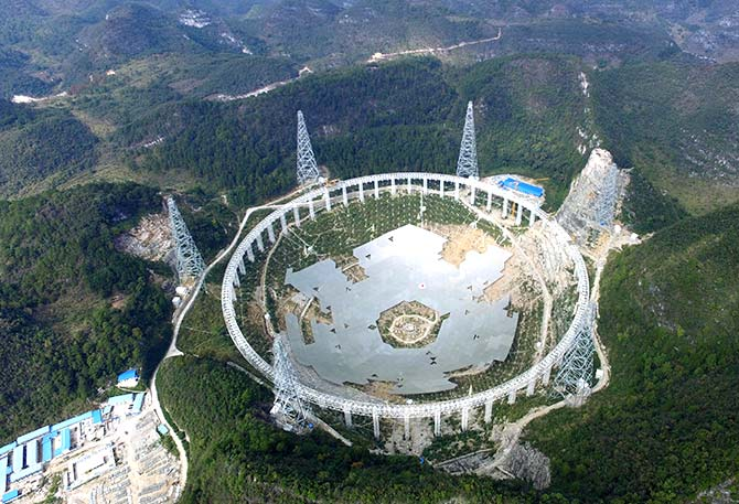 China unveils world's largest telescope in search of alien life