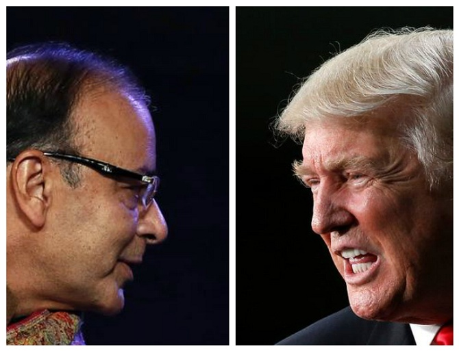 Arun Jaitley and Donald Trump