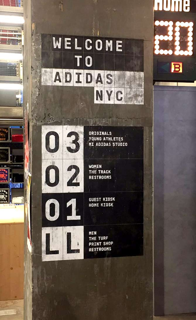 Adidas' New York City outlet