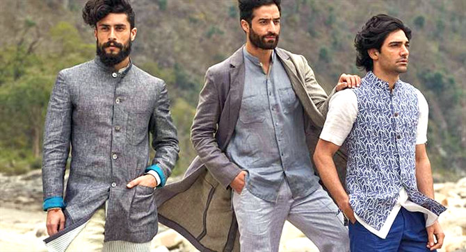 raymond elevates khadi to haute couture rediff com business
