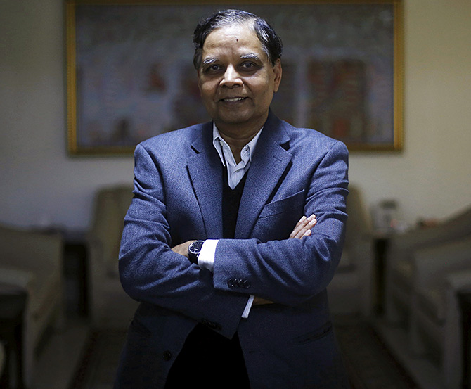 Dr Arvind Panagariya, the well-known economist who is currently vice-chairman of the NITI Aayog. Photograph: Adnan Abidi/Reuters