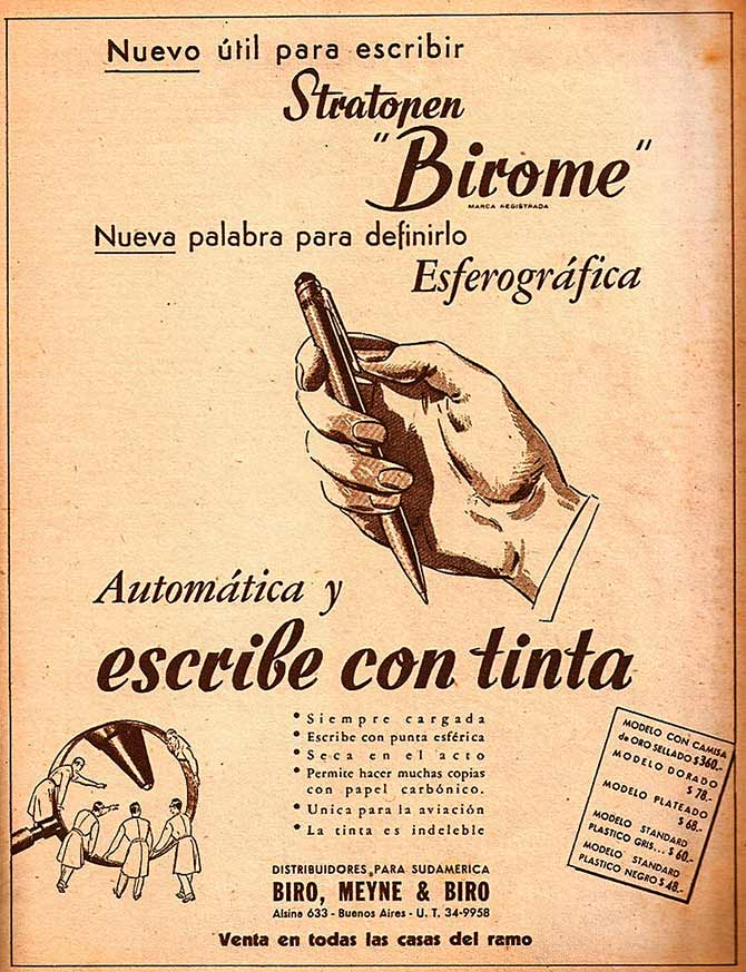 An advertisment for a Biro in an Argentinian newspaper width=