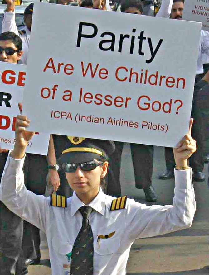 Indian pilots protest
