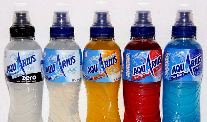 Aquarius fruit juice from Coca Cola