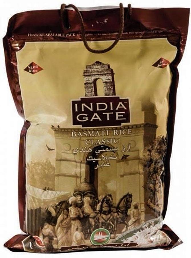 India Gate Basmati rice. Courtesy: India Gate