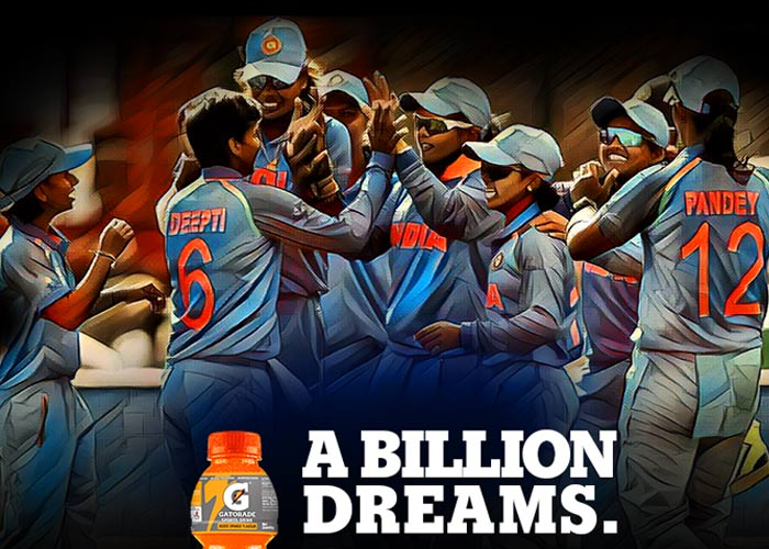 Gatorade salutes the Indian women's cricket team
