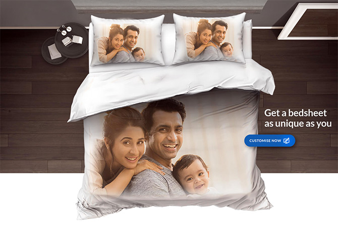 Bombay Dyeing is now offering customisation ie make your own bedsheets. Photograph: Courtesy www.bombaydyeing.com