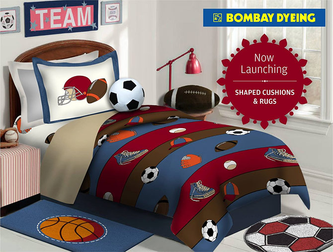 Linen and accessories for children's rooms is a crowd puller. Courtesy Bombay Dyeing/Facebook.