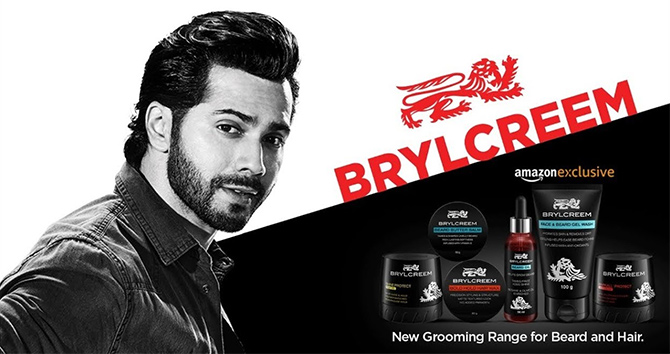 Varun Dhawan sells hair cream. Photograph: Courtesy HUL.