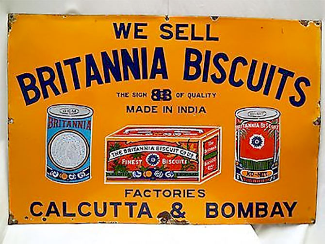 Britannia biscuit plaque