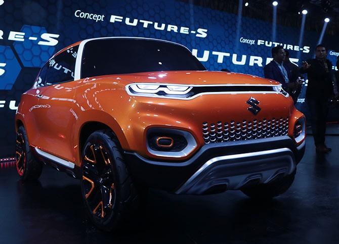 Maruti Shows Off Its Futuristic Concept Car At Auto Expo Rediff