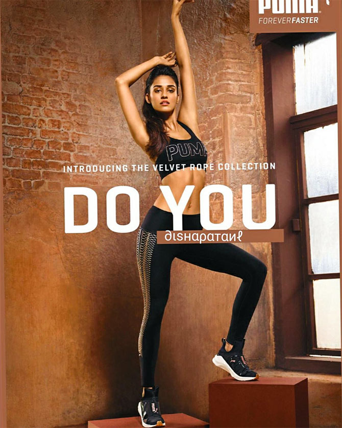 Disha Patani promotes Puma. Photograph: Courtesy Puma.