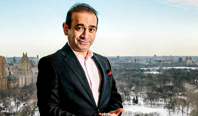 Nirav Modi's father was a diamond jeweller who migrated to Belgium to set up a trading business there. Nirav had to unexpectedly drop out of college -- Wharton -- when his father's business started to stutter. Photograph: Courtesy Nirav Modi/Facebook.