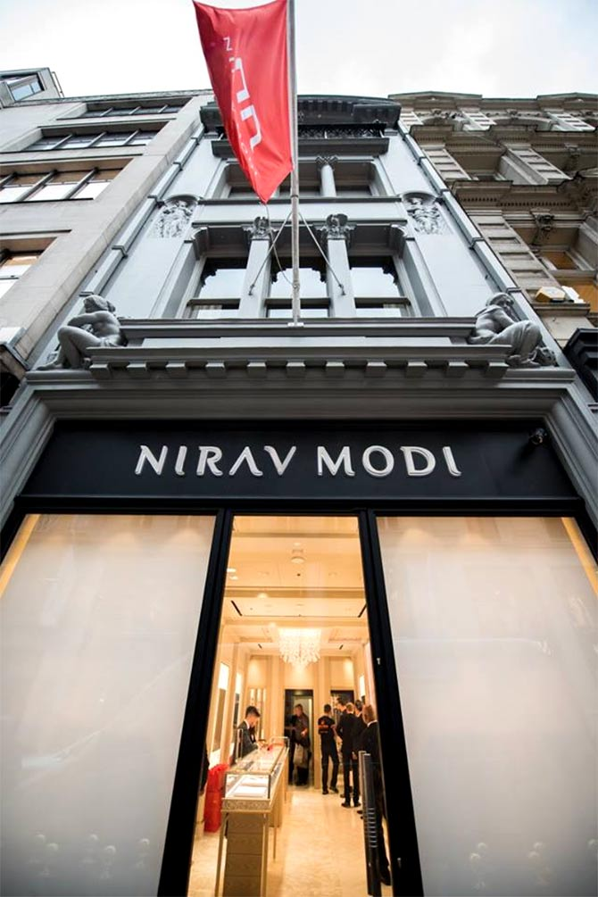 The Nirav Modi boutique, Bond street, Mayfair, London. Photograph: Courtesy Nirav Modi/Facebook.