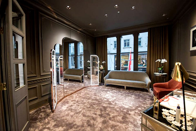 The interiors of the Nirav Modi boutique on Bond street, Mayfair, London. Photograph: Courtesy Nirav Modi/Facebook.