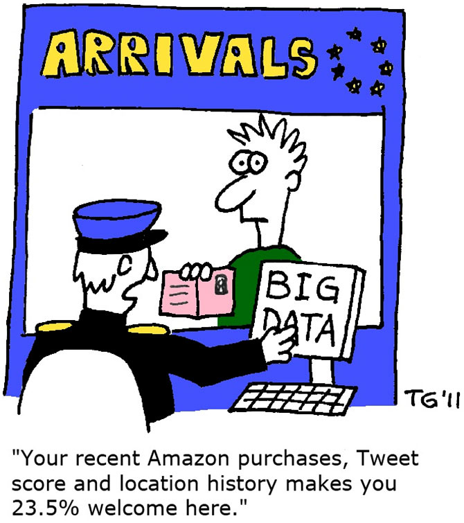 Big Data cartoon. Courtesy: Thierry Gregorius/Wikimedia Commons