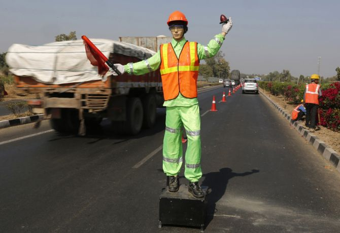 Road construction companies go...