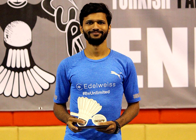 Sukant Kadam wins a medal for India at the Turkish International 2018. Photograph: Courtesy @EdelweissFin/Twitter.