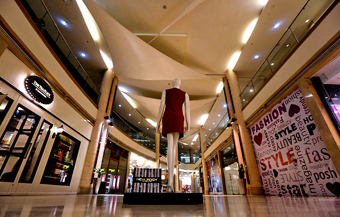 MGF Metropolitan mall in New Delhi. Photograph: Adnan Abidi/Reuters