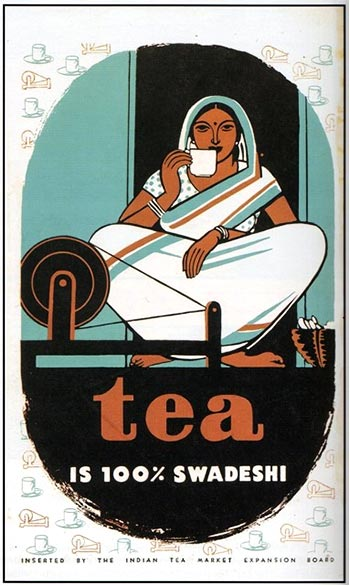 Poster made for the Indian Tea Market Expansion Board, 1947.