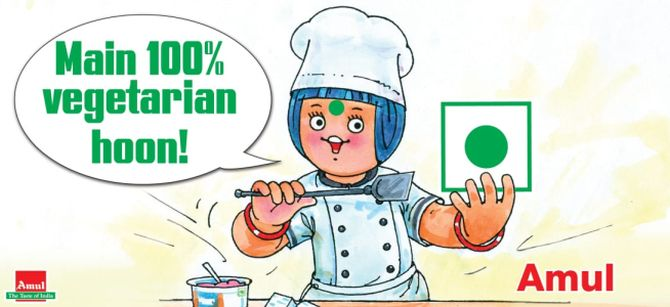 How Amul is quelling the 'non-veg' rumours - Rediff com Business