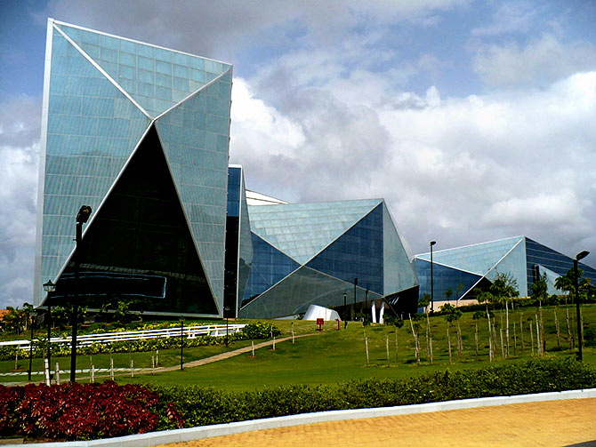 The Mysore campus of Infosys. Photograph: Courtesy Indianhilbilly/Wikimedia Commons.