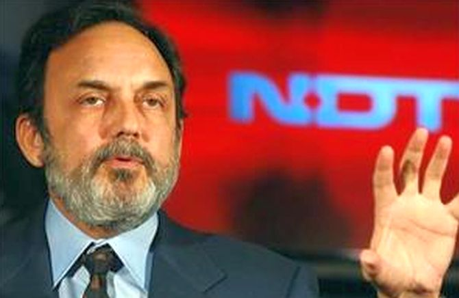 NDTV's Prannoy Roy booked for FDI norms violation