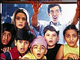 Preity Zinta, Hrithik Roshan and the children in Koi... Mil Gaya