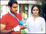 Ajay Devgan and Gracy Singh in Gangaajal