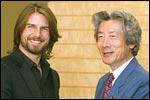Tom Cruise with Japan's Prime Minister Junichiro Koizumi