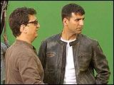 Akshay Kumar on the sets of MSK