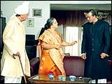 Suni Dutt, Rohini Hattangady and Sanjay Dutt