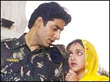 Abhishek Bachchan and Esha Deol in LoC