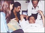 Vivek Oberoi in Mumbai's Hinduja Hospital