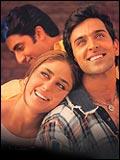 Abhishek, Kareena Kapoor and Hrithik Roshan in Main Prem Ki Diwani Hoon