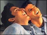 Abhishek Bachchan and Hrithik Roshan in Main Prem Ki Diwani Hoon