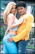 Ritesh Deshmukh and Brande Roderick in 'Out Of Control'