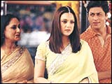 Jaya Bachchan, Preity Zinta and Shah Rukh Khan in KHNH