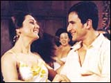 Preity Zinta and Saif Ali Khan in KHNH