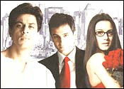 SRK, Saif and Preity in KHNH