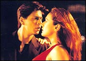 SRK and Preity in KHNH